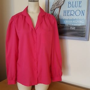 2 for $15 sale Ann Chabrol blouse hot pink Size 10